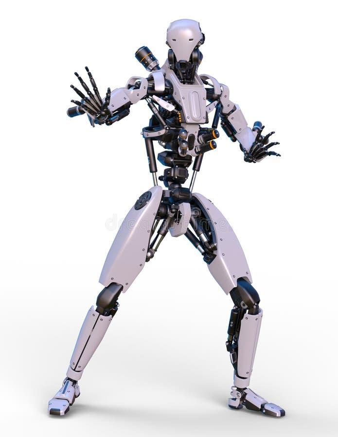 Robot di battaglia illustrazione di stock