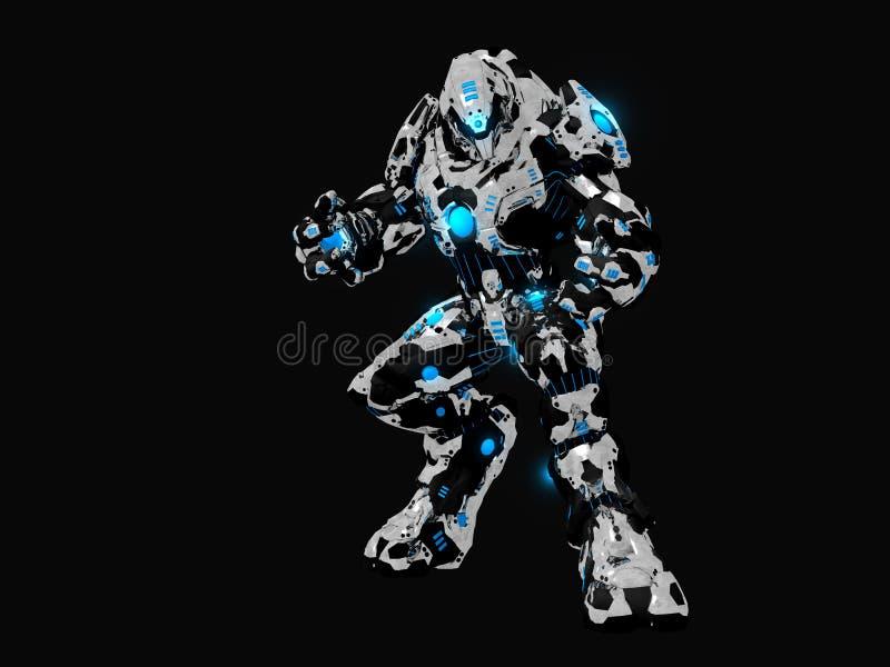 Robot di battaglia illustrazione vettoriale