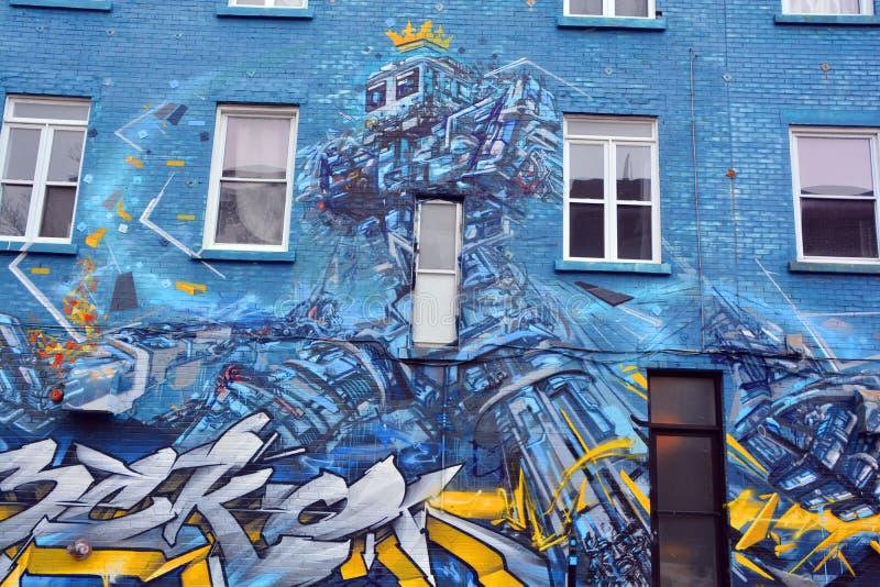 Robot di Montreal di arte della via immagine stock