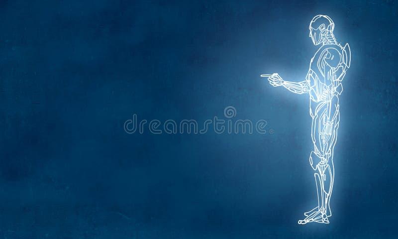 Robot dibujado mano libre illustration