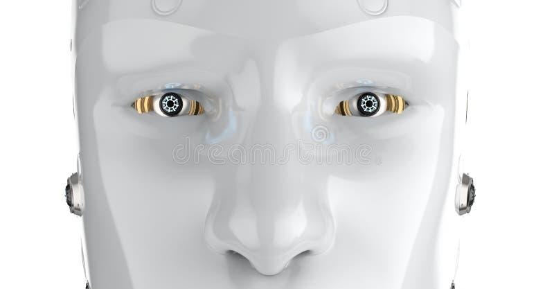 Robot dichte omhooggaand royalty-vrije illustratie