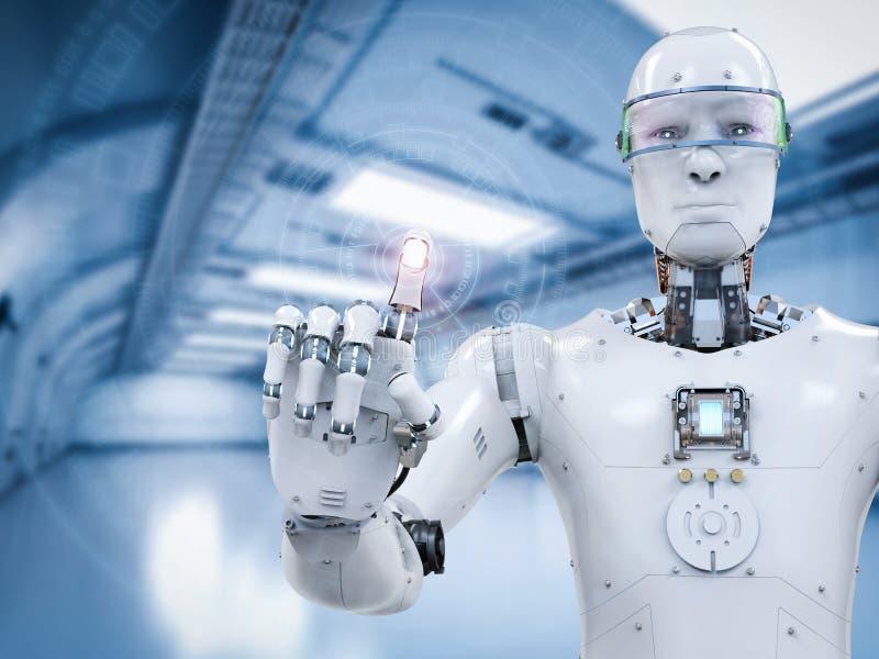 Robot die met virtuele vertoning werken