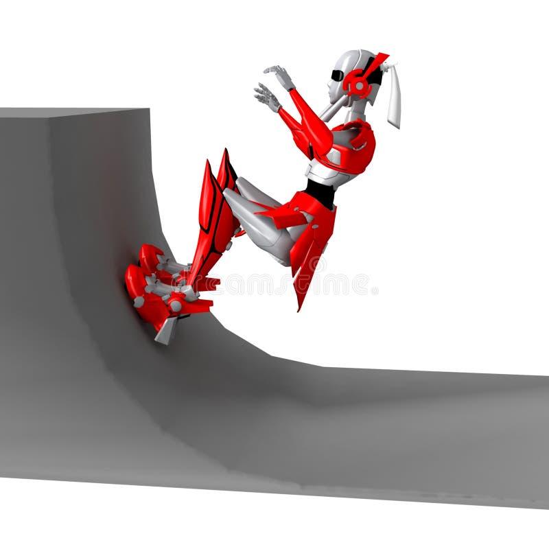 Robot die rollerblade 6 speelt royalty-vrije illustratie