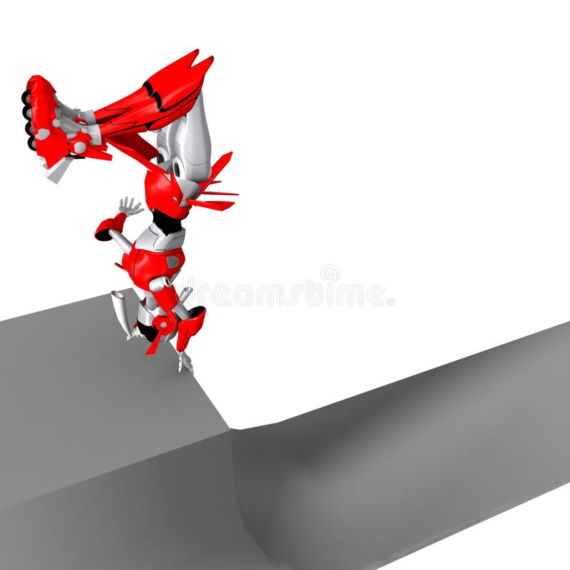 Robot die rollerblade 7 spelen royalty-vrije illustratie
