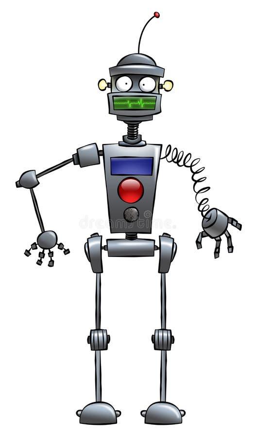 Robot divertente illustrazione vettoriale
