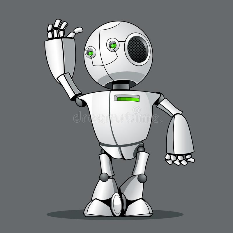 Robot divertente del bambino, accogliente vi illustrazione vettoriale