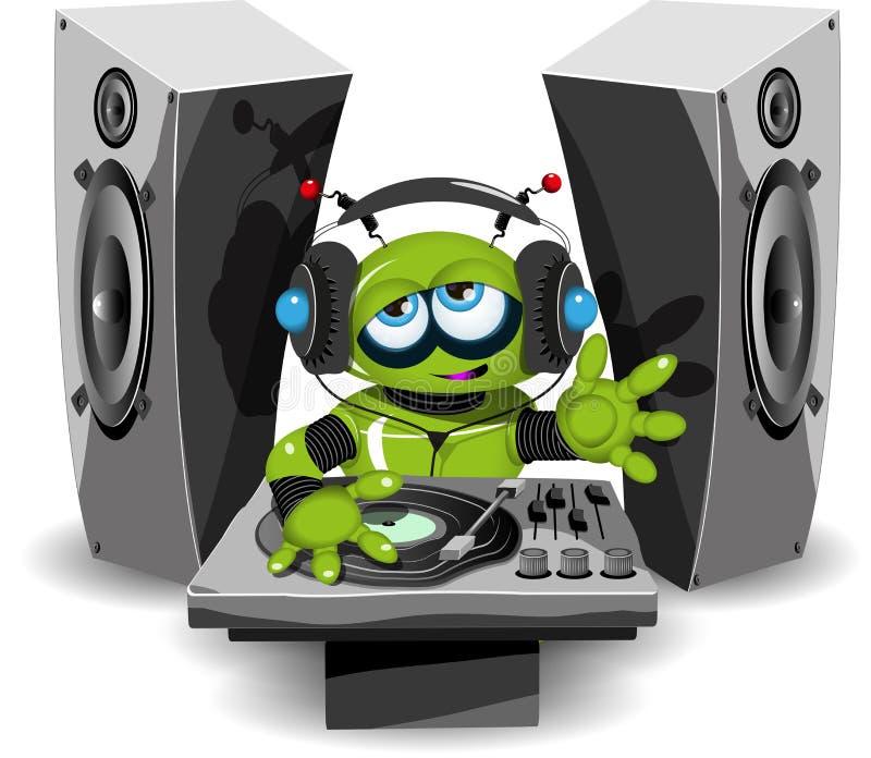 Robot DJ royalty ilustracja