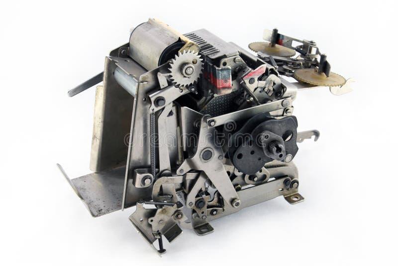 Robot dog ( part of typewriter ). Isolated on white royalty free stock photography
