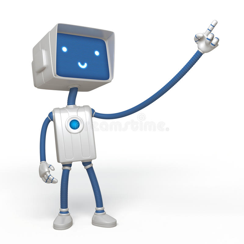 Robot drôle illustration stock