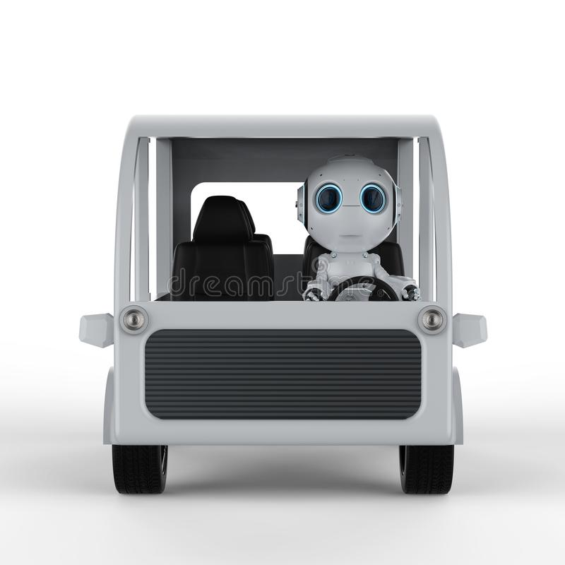 Robot drive bus stock illustration