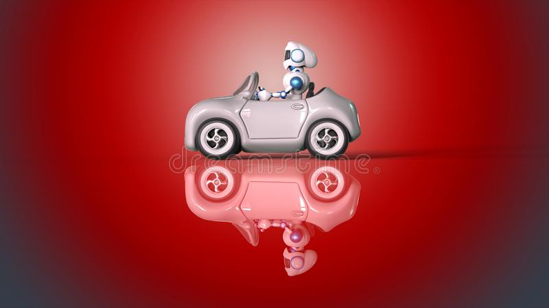 Robot driving stock illustration