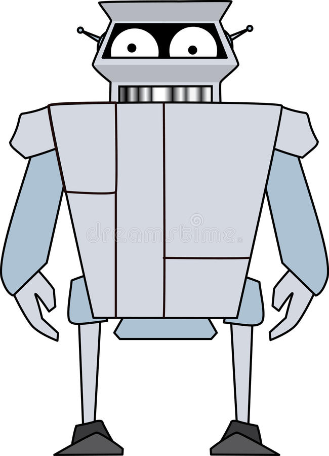 Download Robot droid stock vector. Image of humor, android, happy - 27895582