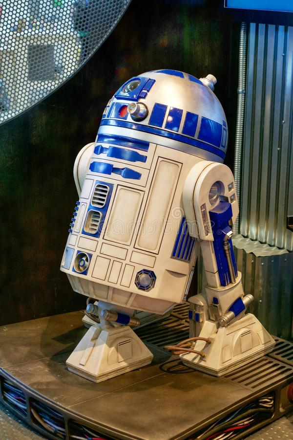 Robot du droid R2-D2 de Star Wars images libres de droits