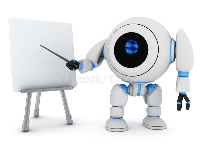 Download Robot e-learning stock illustration. Image of automated - 24255124