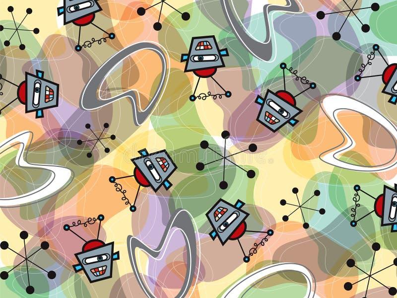 robot e reticolo del boomerang illustrazione vettoriale