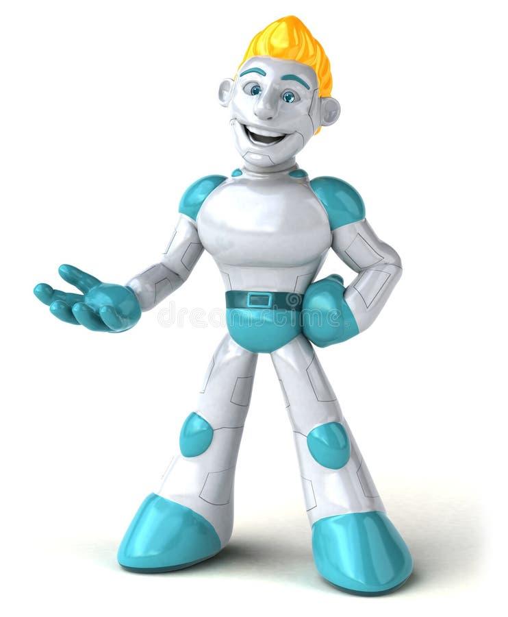 Robot - ejemplo 3D ilustración del vector