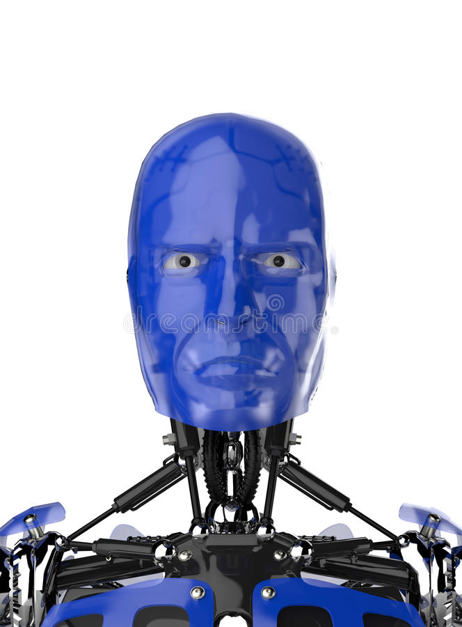 Robot eller cyborg arkivfoto
