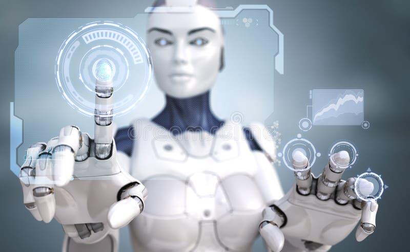 Robot en interface sc.i-FI vector illustratie