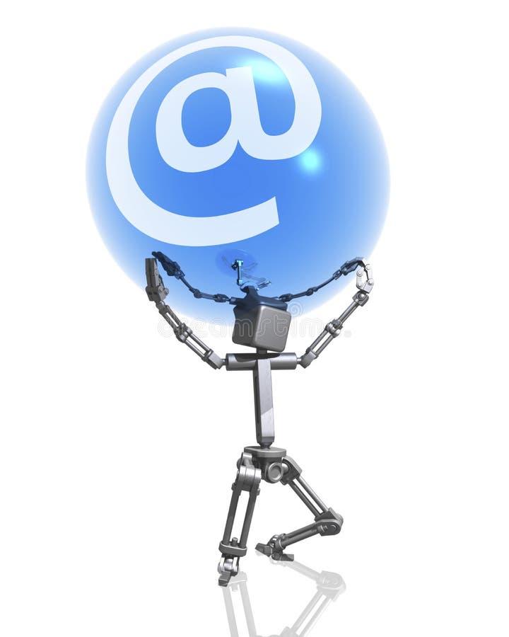 Robot En Internet Teken Stock Fotografie