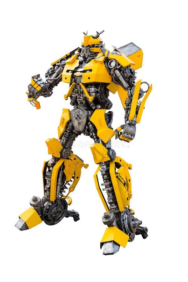 Robot en métal images stock
