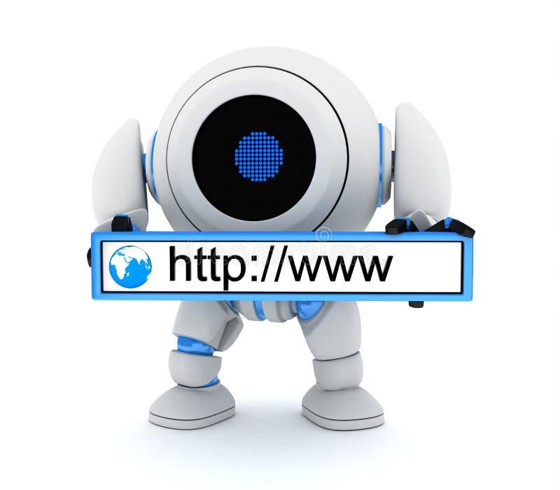 Robot en www adres stock illustratie