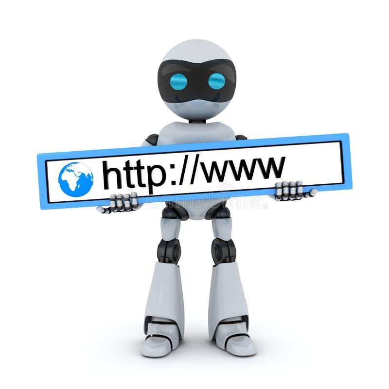 Robot en www adres vector illustratie