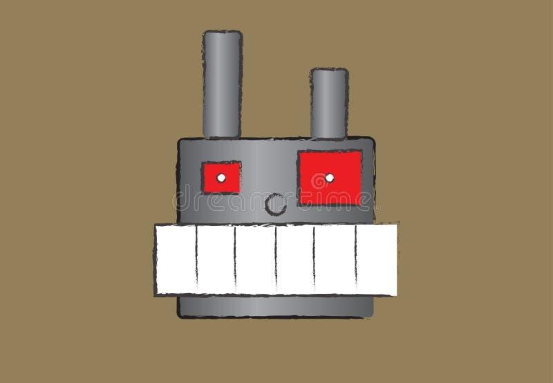 Robot enojado foto de archivo