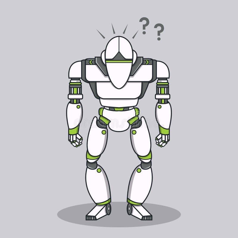Robot estúpido de la pregunta libre illustration