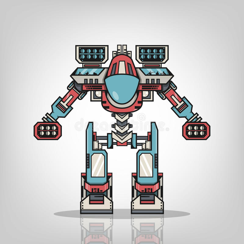 Robot estupendo de la guerra libre illustration