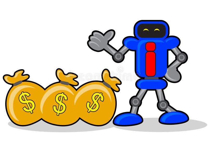 Robot et argent illustration libre de droits