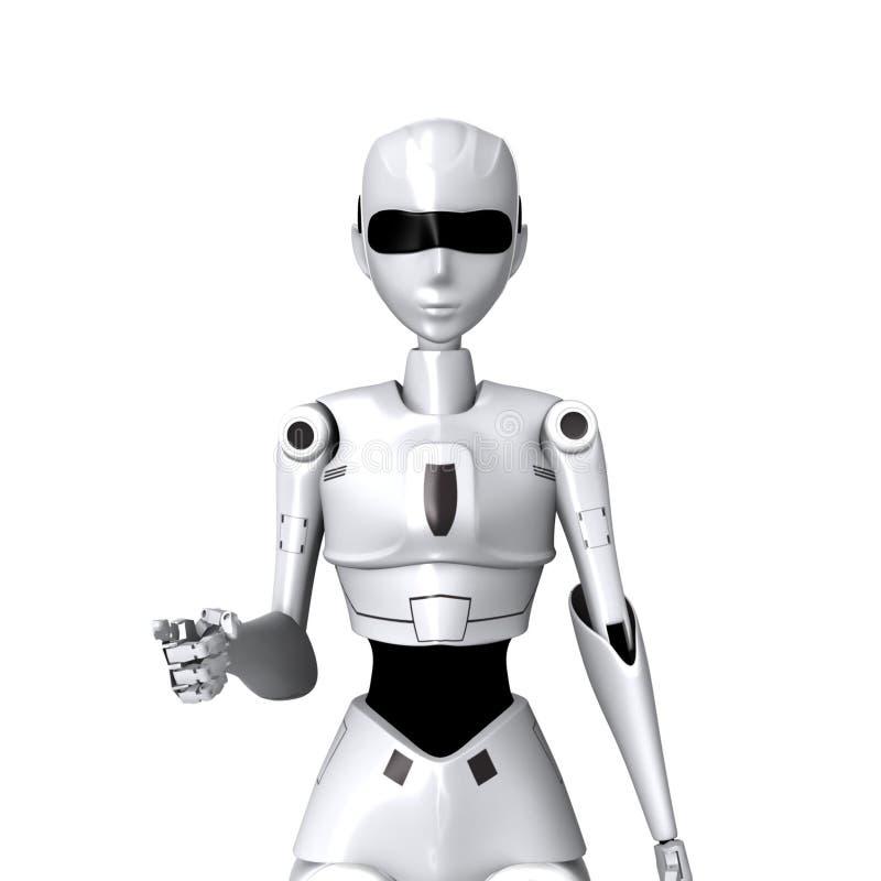 Robot et vous pose photos libres de droits