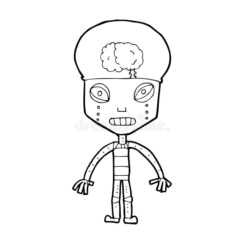 robot extraño de la historieta libre illustration
