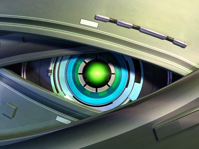 Robot eye royalty free illustration