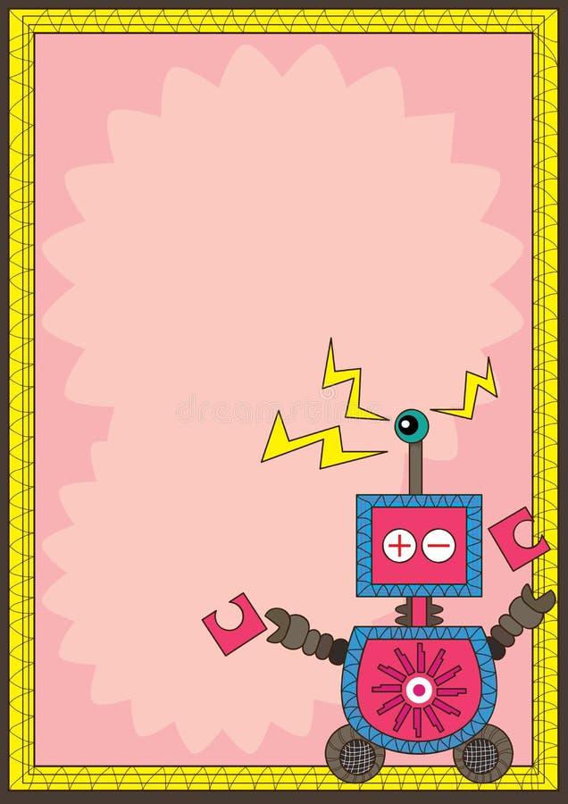 Robot Eye Detect Frame Card_eps royalty free illustration