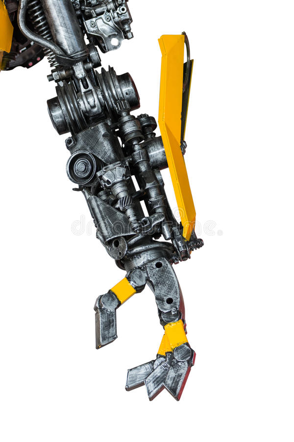 Robot för kugghjulmaskineridel arkivbilder
