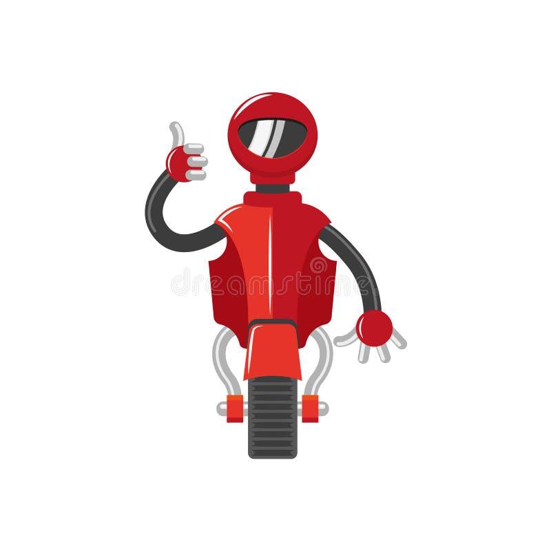 Robot för pojke för plan tecknad film för vektor rolig manlig stock illustrationer