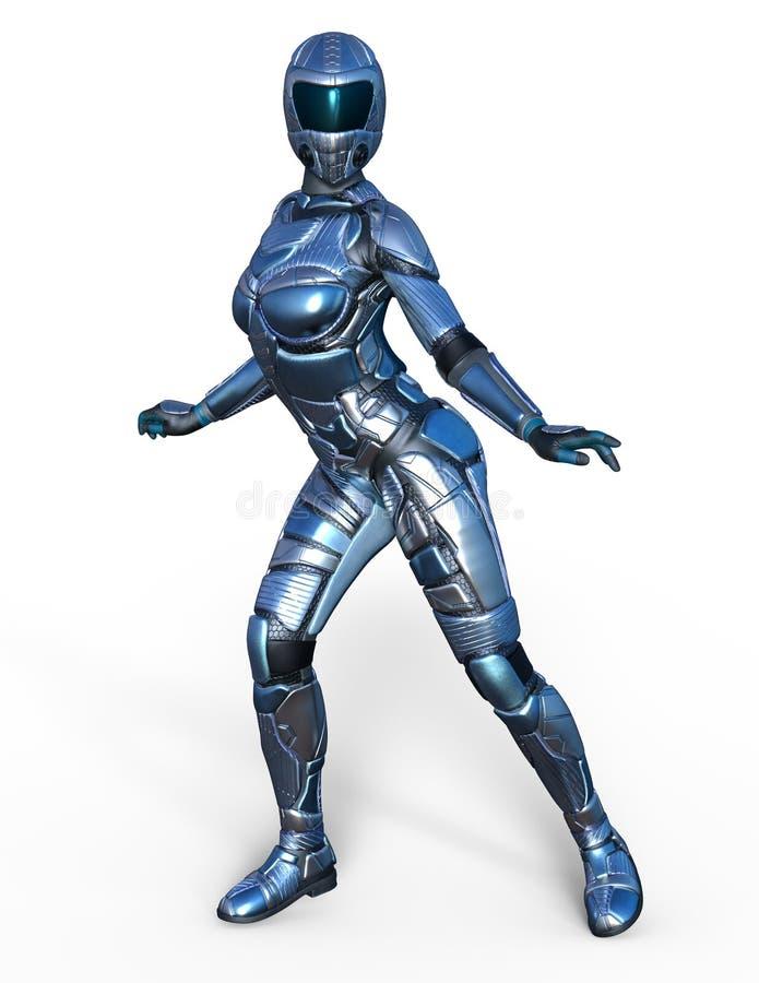 Robot femelle illustration libre de droits