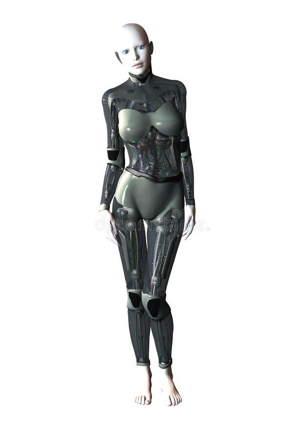 Robot femenino ilustración del vector