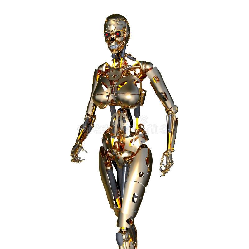 Robot femminile illustrazione vettoriale