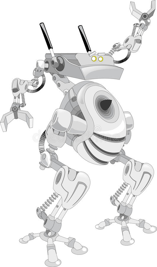 Robot with frog legs royalty free illustration