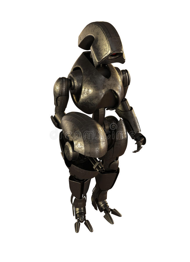 Robot futuristico d'acciaio royalty illustrazione gratis