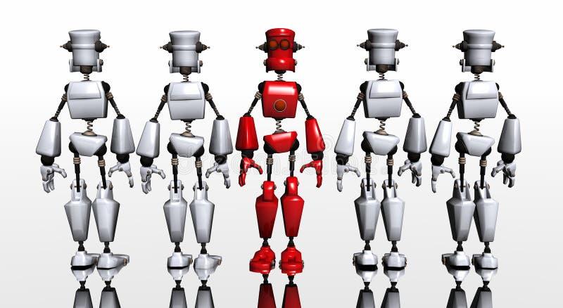 Robot group royalty free illustration