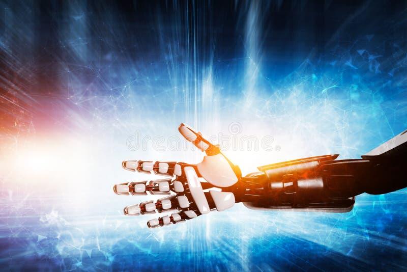 Robot hand on modern background royalty free illustration