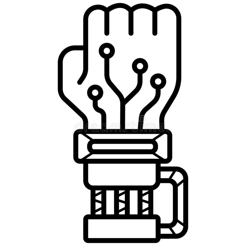Robot Hand Palm Icon stock illustration
