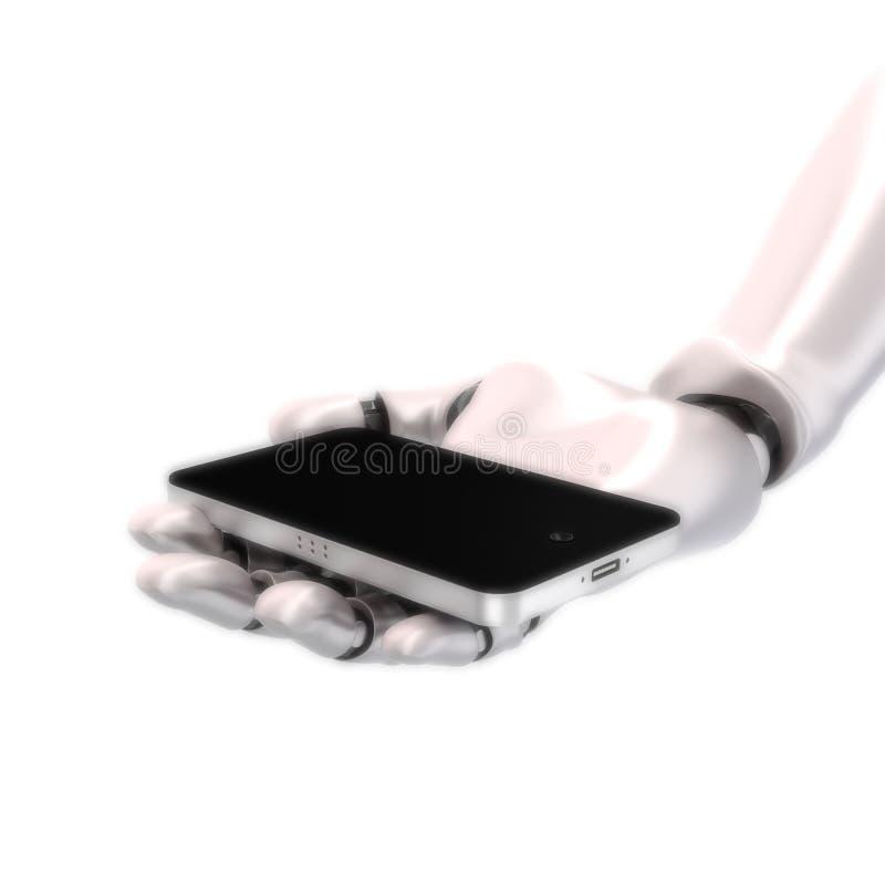 Robot hand phone vector illustration