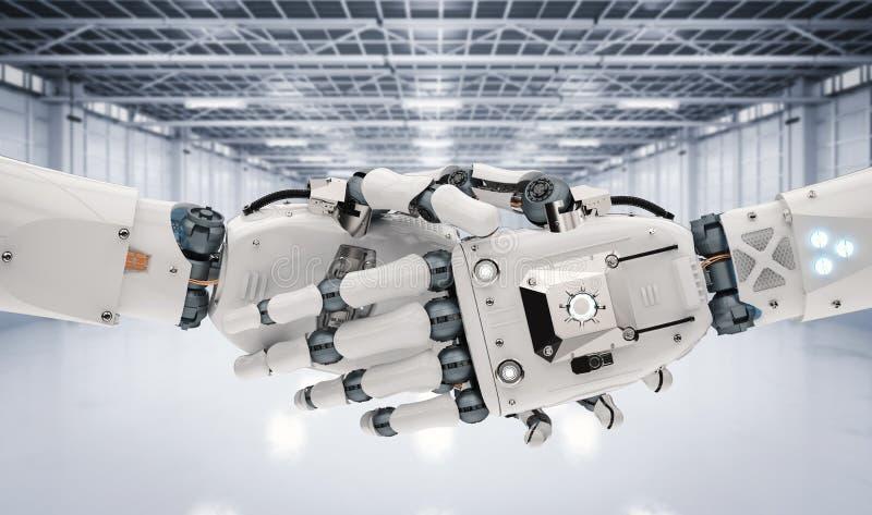 Robot hand shaking royalty free illustration