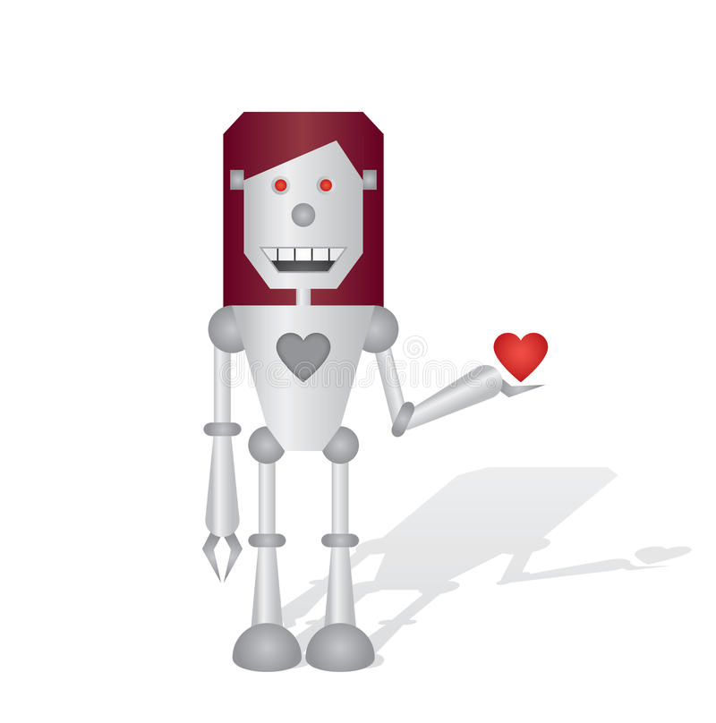Download Robot With Heart Stock Photography - Image: 33015372