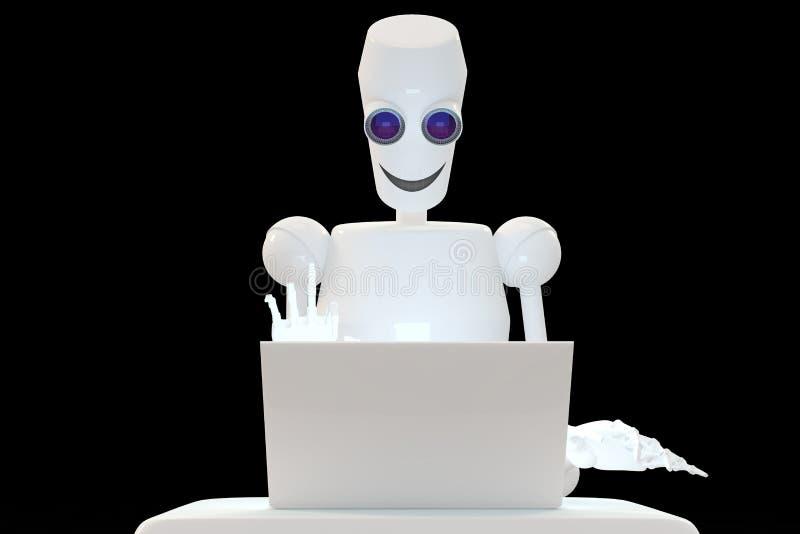 Robot het typen stock foto