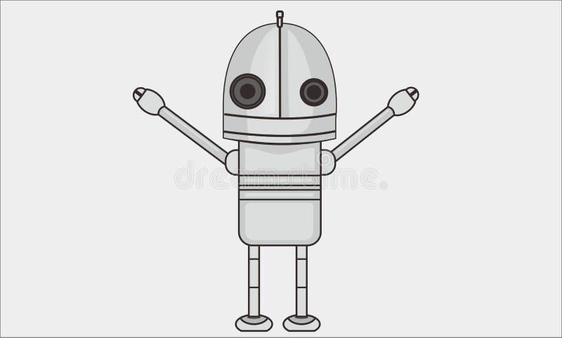 Robot heureux photos libres de droits