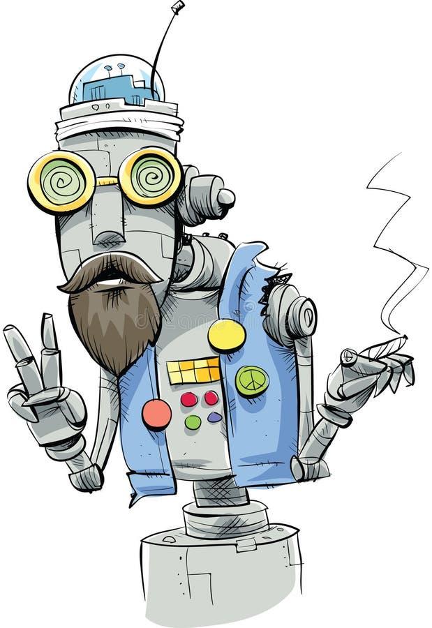 Download Robot Hippie stock illustration. Illustration of future - 41884328